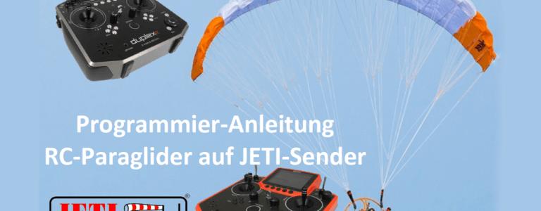 Programmier Anleitung RC-Paraglider für Jeti Sender