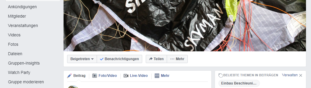 RC-Paragliding with fun auf Facebook