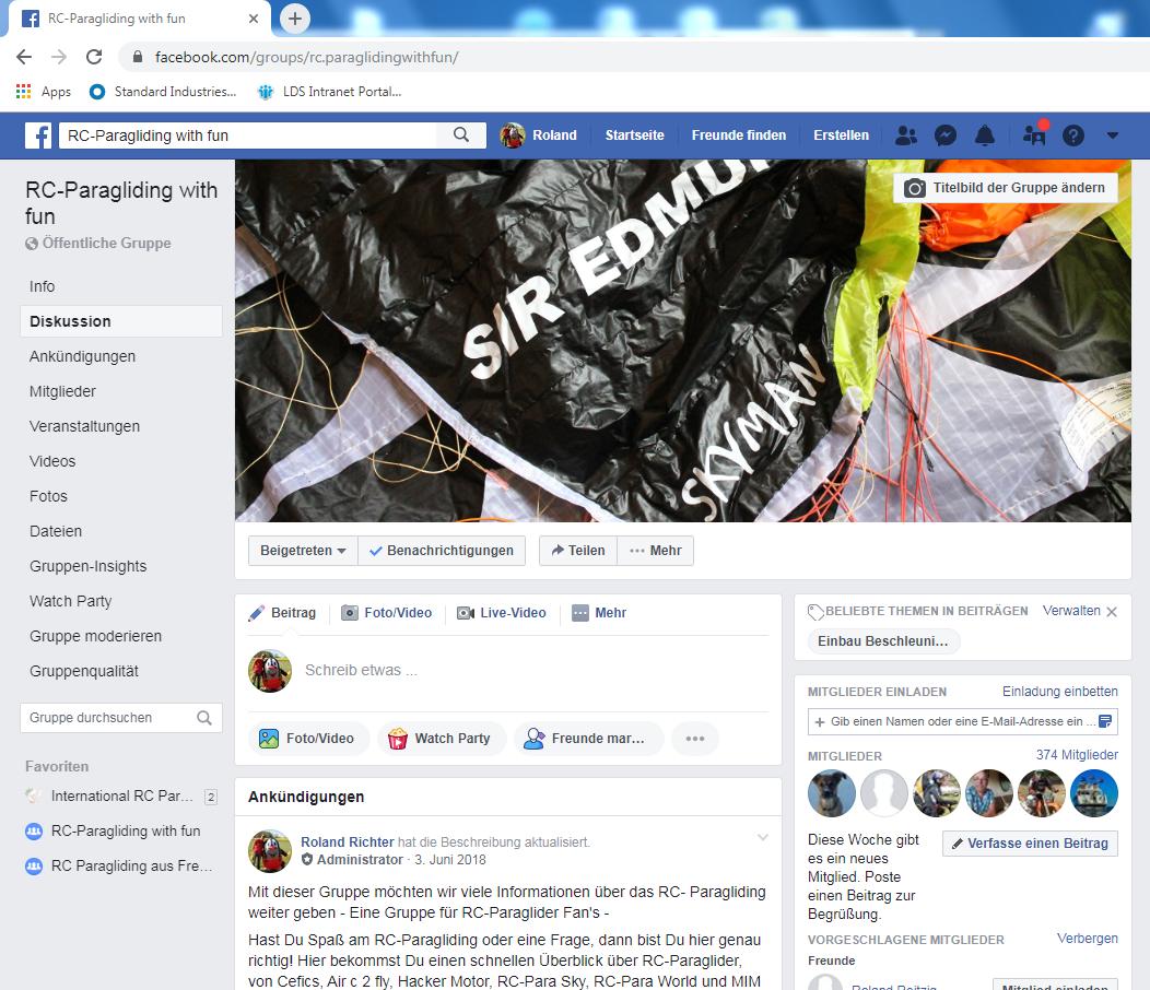 RC-Paragliding with fun auf Facebook