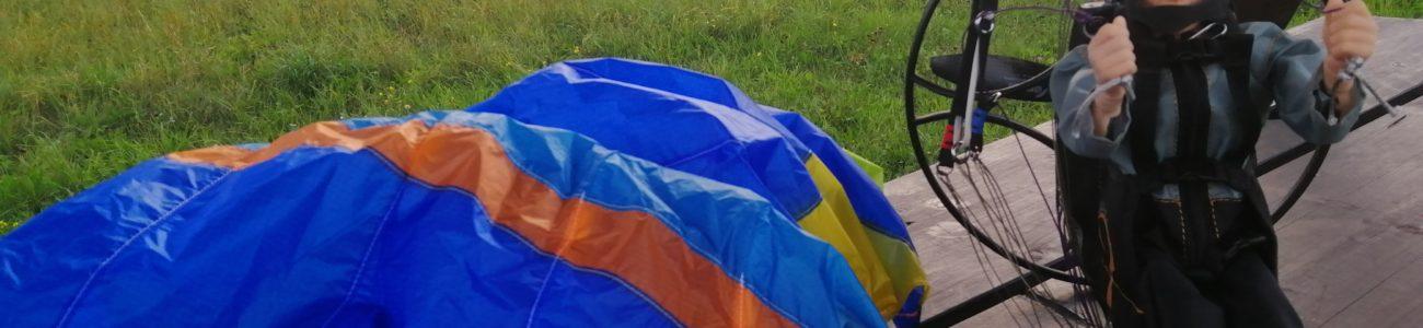 Dudek S-Lite 1.5 fliegen im Osterzgebirge
