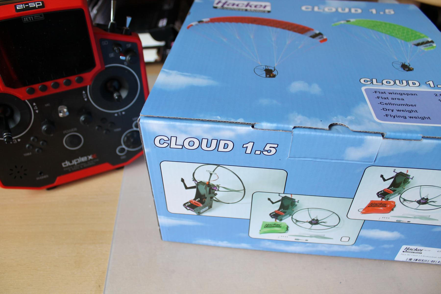 Para-RC Cloud 1.5 Komplettset ARF Hacker Motor